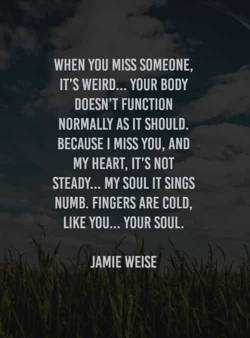 Missing you quotes and I miss you messages | Be yourself ...