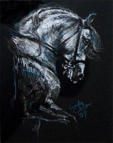 Pastel - White Horse