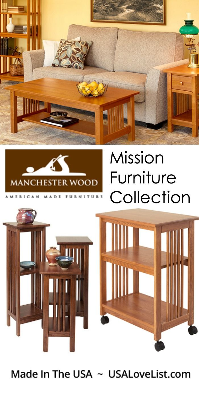 American made mission furniture collection from manchester wood