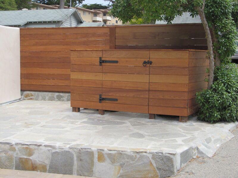 Hidden Trash Enclosure Trash Can Storage Outdoor Outdoor Trash Cans Can Storage