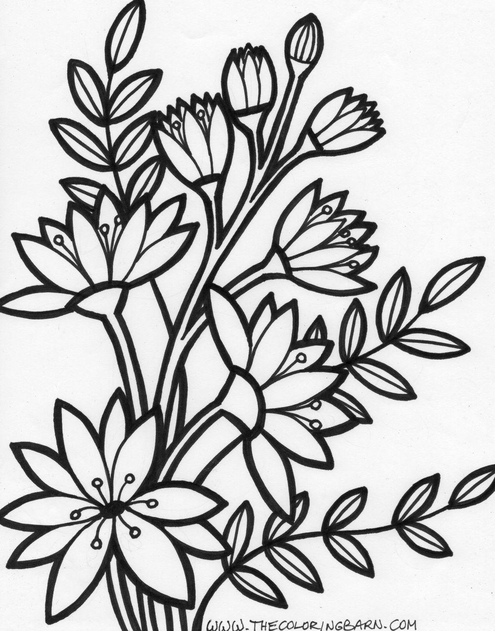 Blumen Malvorlagen für Kinder -