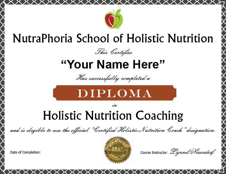 Earn A Diploma In Holistic Nutrition Coaching Wildly Popular Self