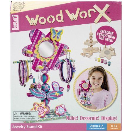 Wood WorX Kit, Jewelry Stand, Assorted