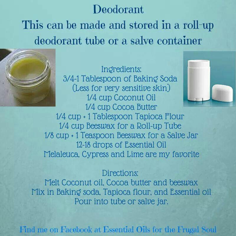 Deodorant baking soda oils cocoa butter
