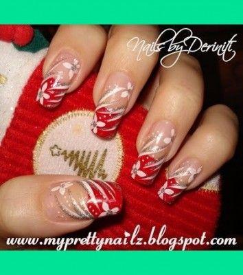 nageldesign weihnachten rot weiss n gel pinterest n gel nageldesign und fingern gel. Black Bedroom Furniture Sets. Home Design Ideas