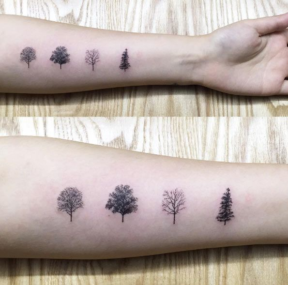 Tree Species Tattoo by Hongdam