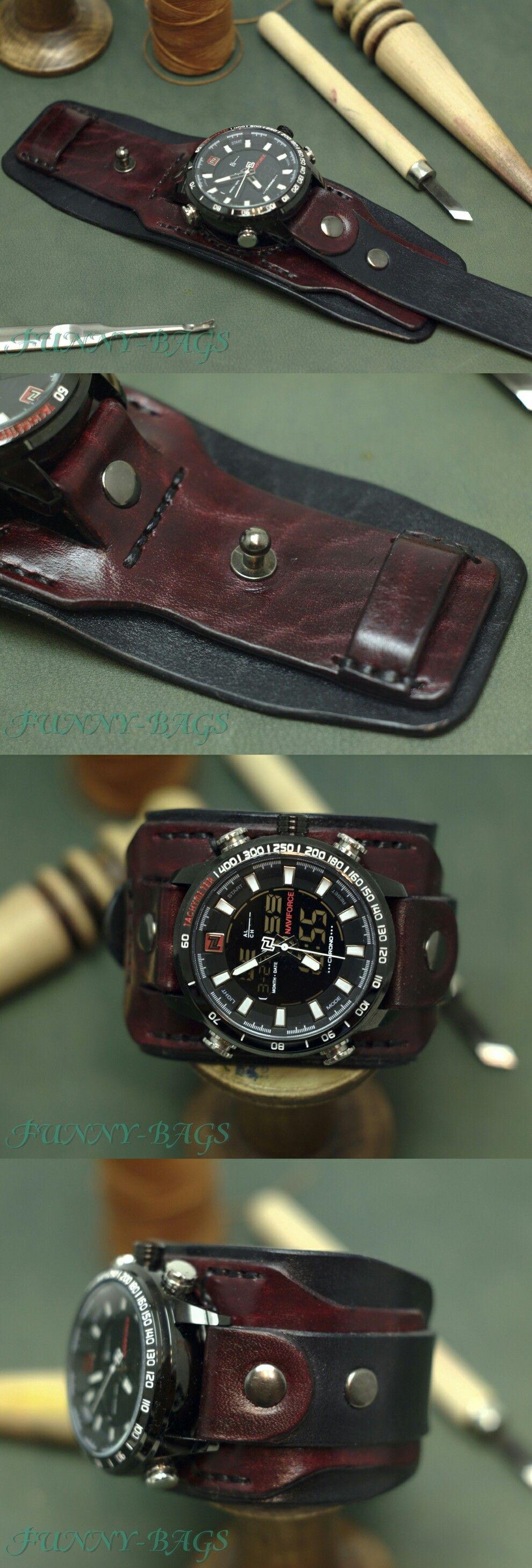 Leather watch bracelet Δερμάτινα Είδη Για Άνδρες 535dc1923d1