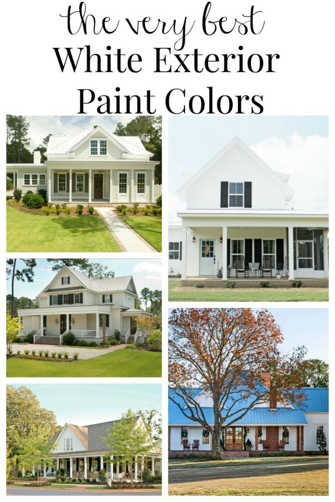 Painting update farmhouse exterior paint color ideas - White exterior paint color schemes ...