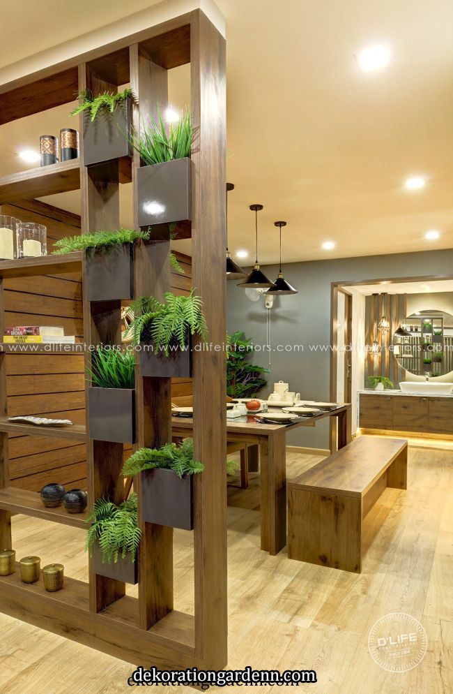Partition Unit With Artificial Plants In 2020 Living Room Partition Design Room Partition Designs Living Room Design Modern #partition #walls #for #living #room