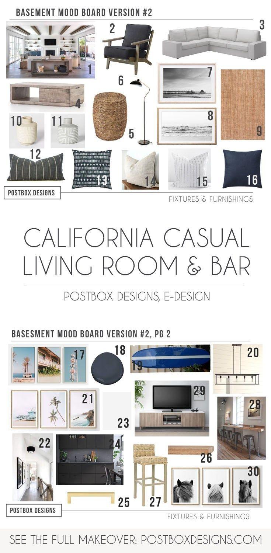 4 Rooms: A Modern Neutral Basement Makeover - Postbox Designs