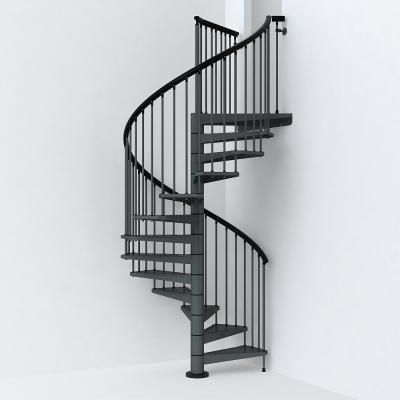 Best Arke Sky030 63 In Iron Grey Spiral Staircase Kit Spiral 400 x 300