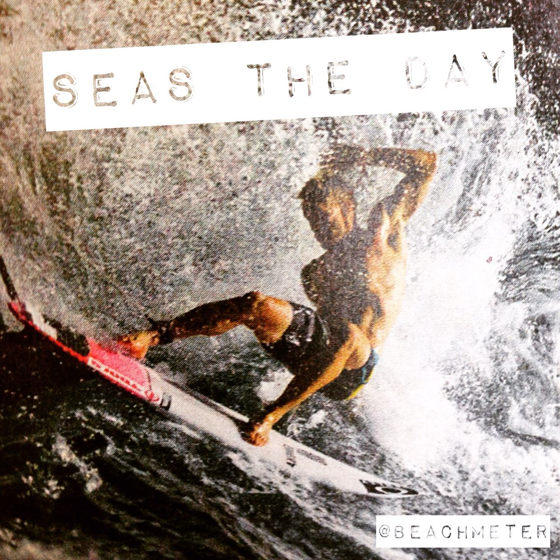 Seas the day with surfer in big waves by http://beachmeter.com.linux128.unoeuro-server.com