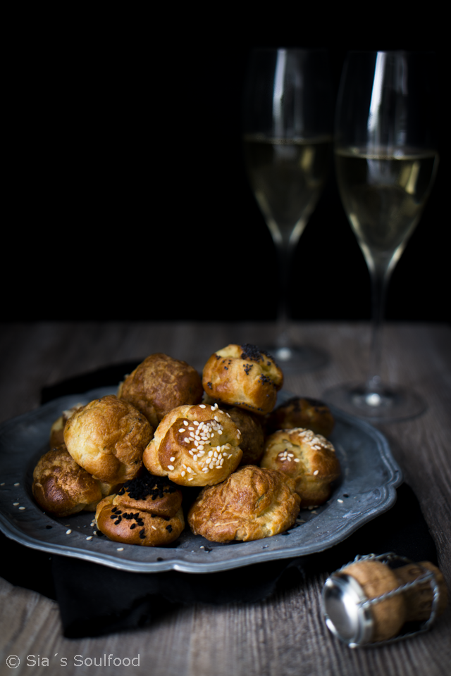 Silvester-Fingerfood: Käsewindbeutel {Gougères} I Cheese puffs I Sia´s Soulfood