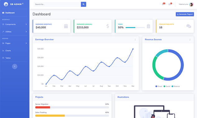 Free Modern Admin Dashboard Html Template Being An Admin For A Business Is No Easy Task A Lot Of Things Depend On Them And Bus Templates Report Template Admin