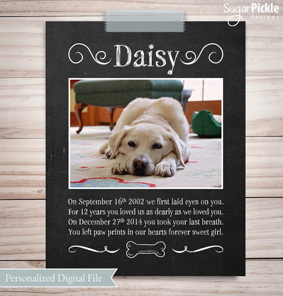 Pet Loss Gift, Pet Memorial Gift, Personalized Dog Lover