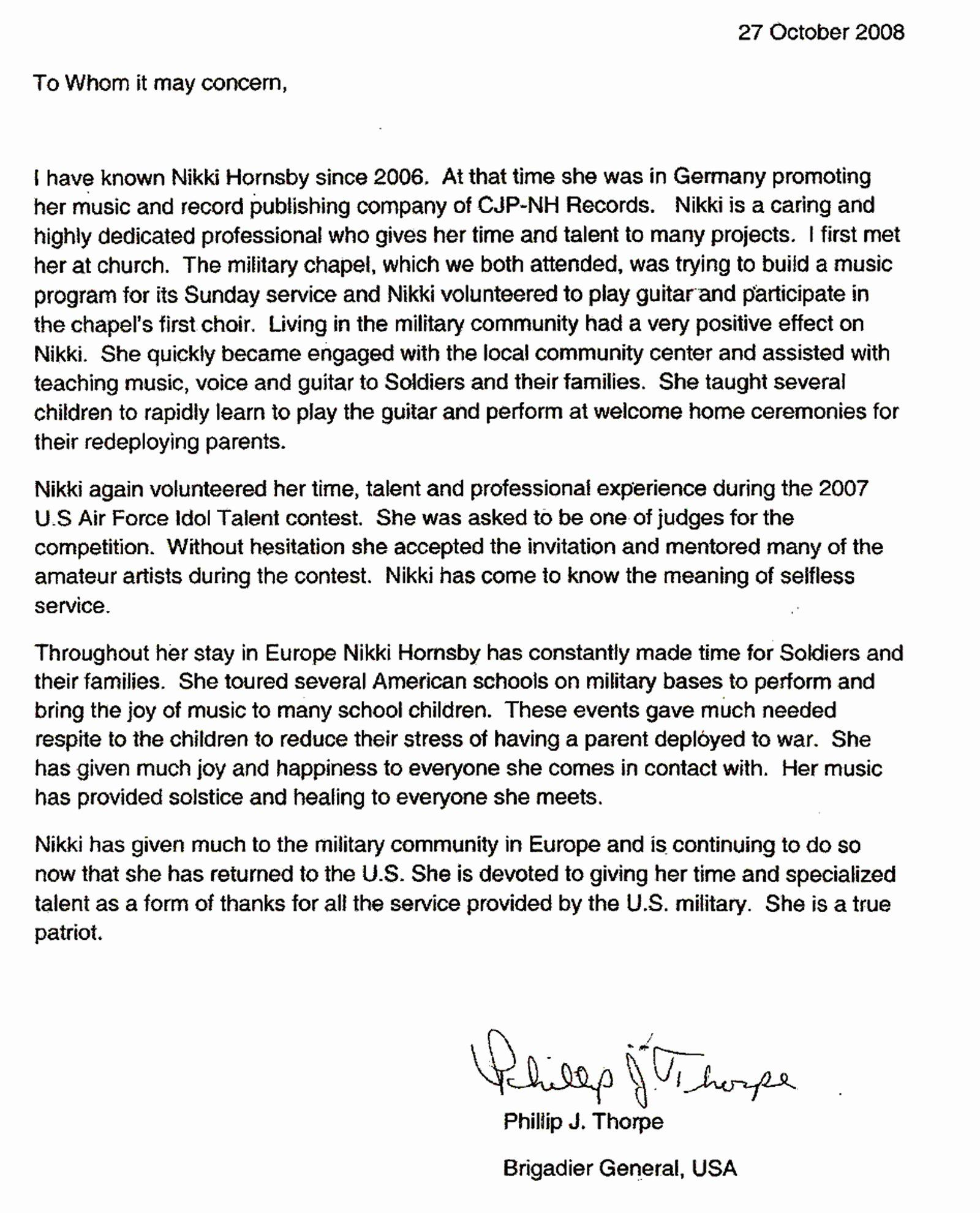 Military Letter Of Examples Elegant File