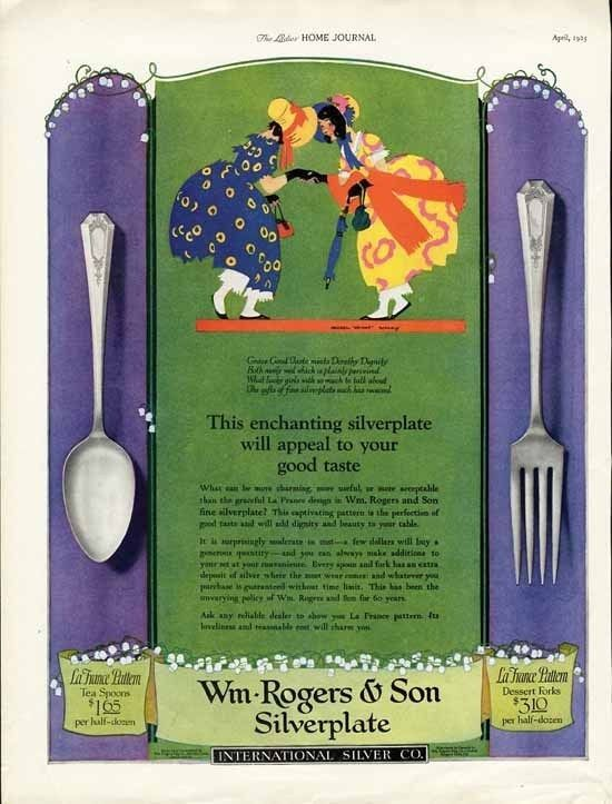 2 William Rogers Silverplate Ad 1925 Magenil Wright Barney Little Girls | eBay #1