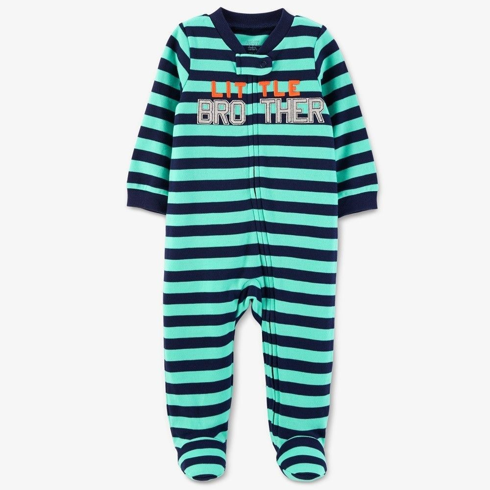 f93256323 Baby Boys  Striped Little Brother Sleep N  Play - Just One You Made ...