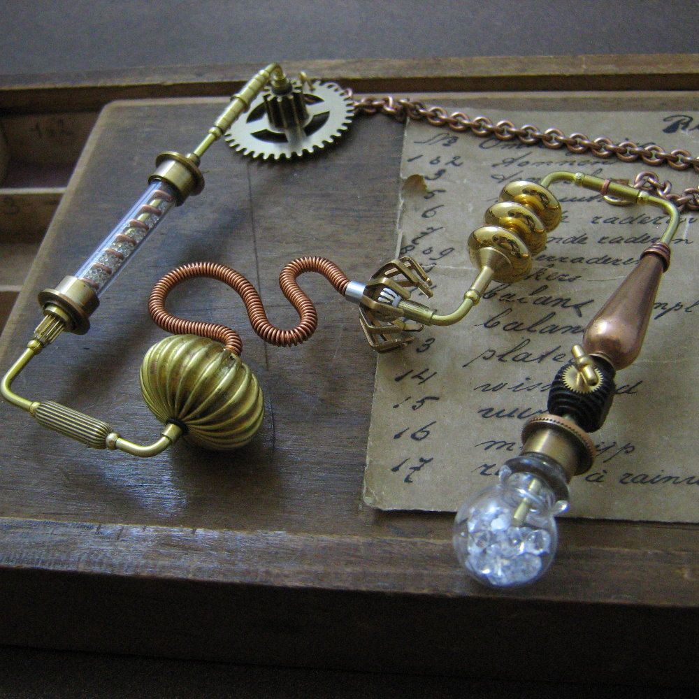 Steampunk pendant necklace, Steampunk costume jewelry ...