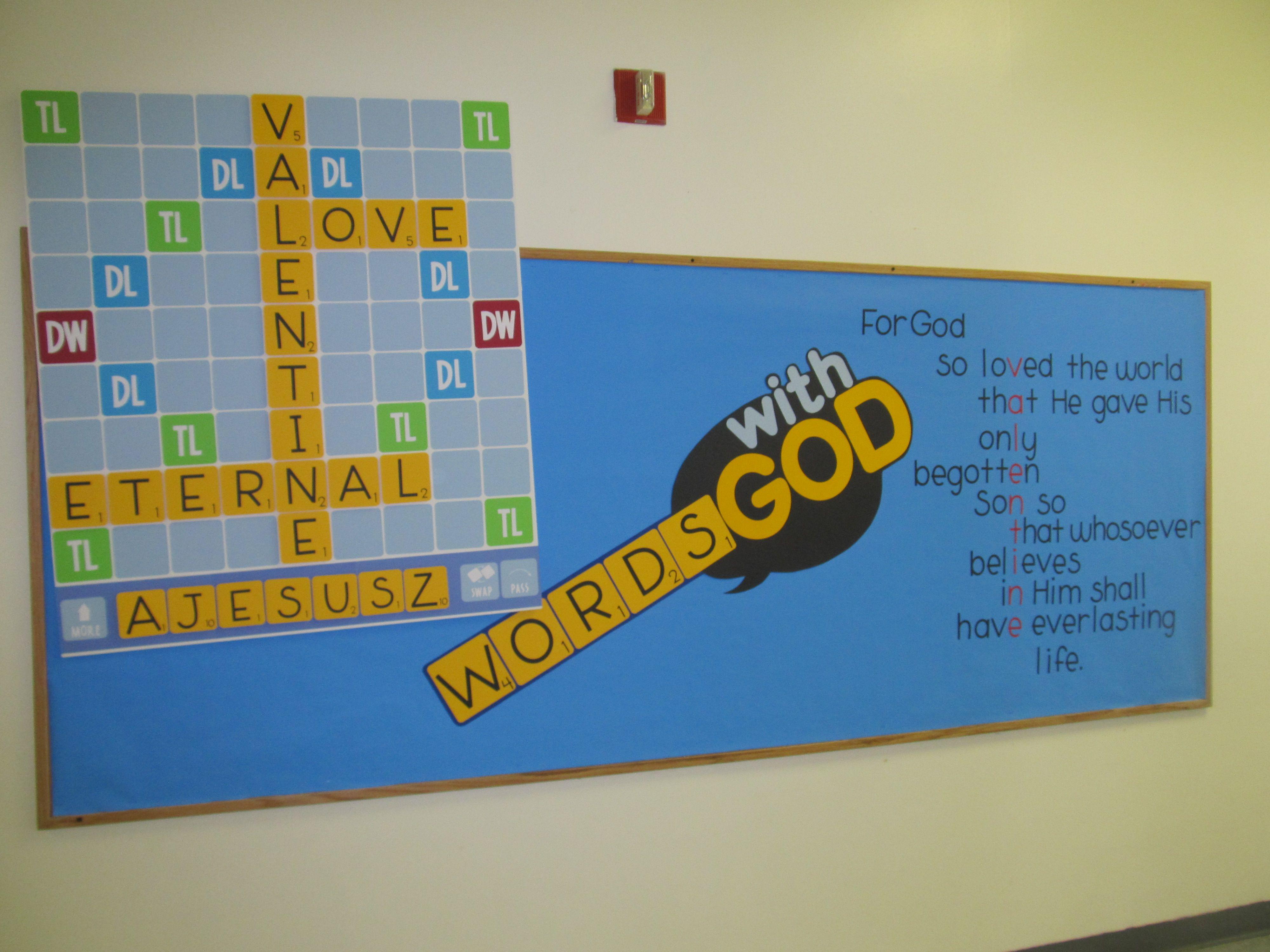 Words With God Bulletin Board For Church