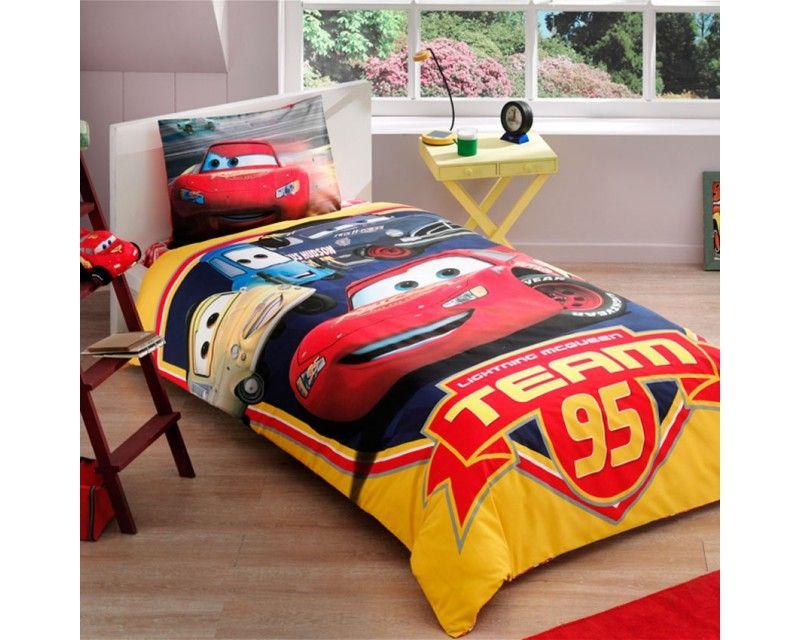 Disney Cars Team 95 Single Twin Duvet Quilt Comforter Cover Set. Disney Cars Team 95 Single Twin Duvet Quilt Comforter Cover Set