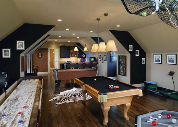 Exceptional Attic Game Room Ideas For Guys