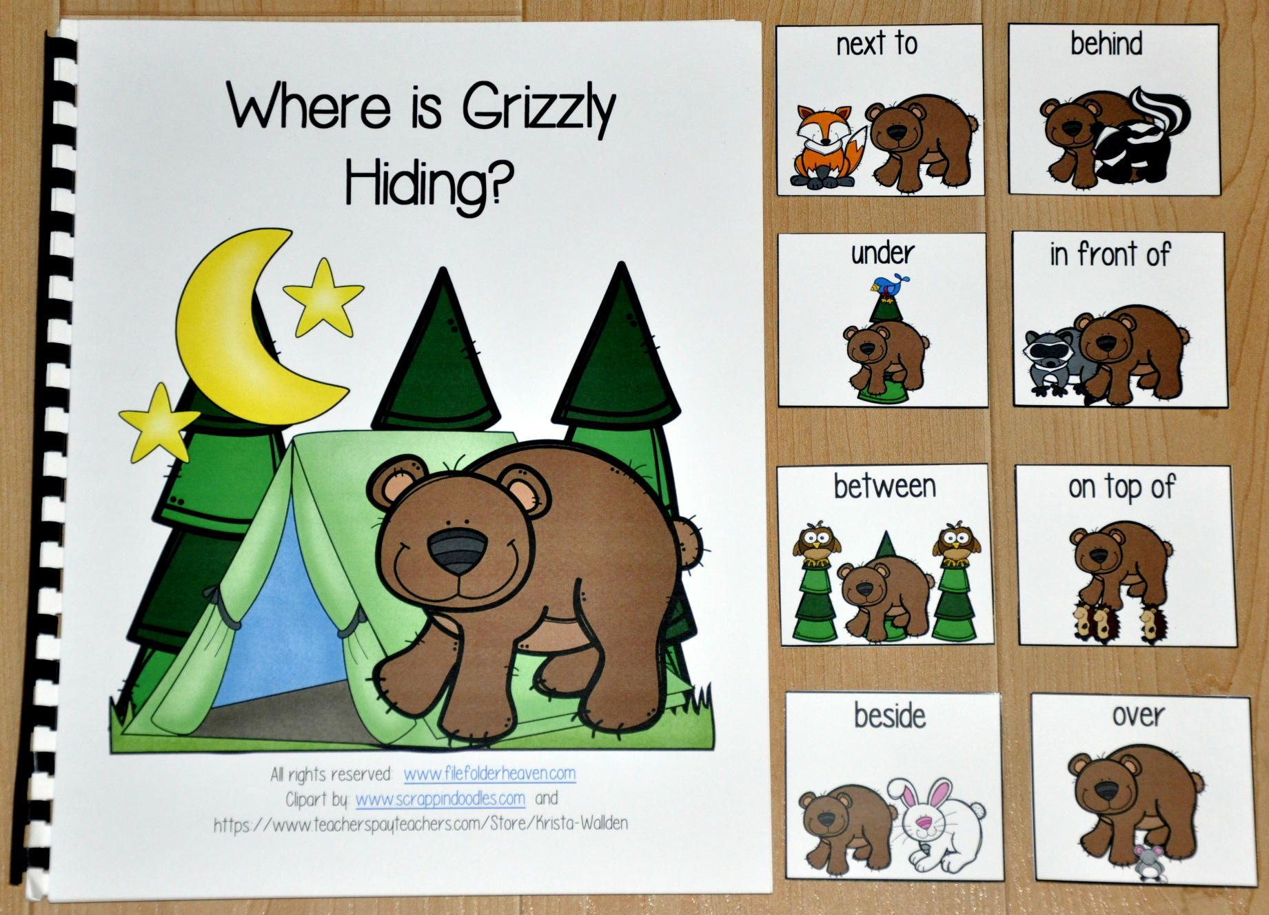 Where Is Grizzly Hiding Adapted Book 3 00 File Folder Games At File Folder Heaven Printable Hands On Adapted Books Language Activities Book Activities