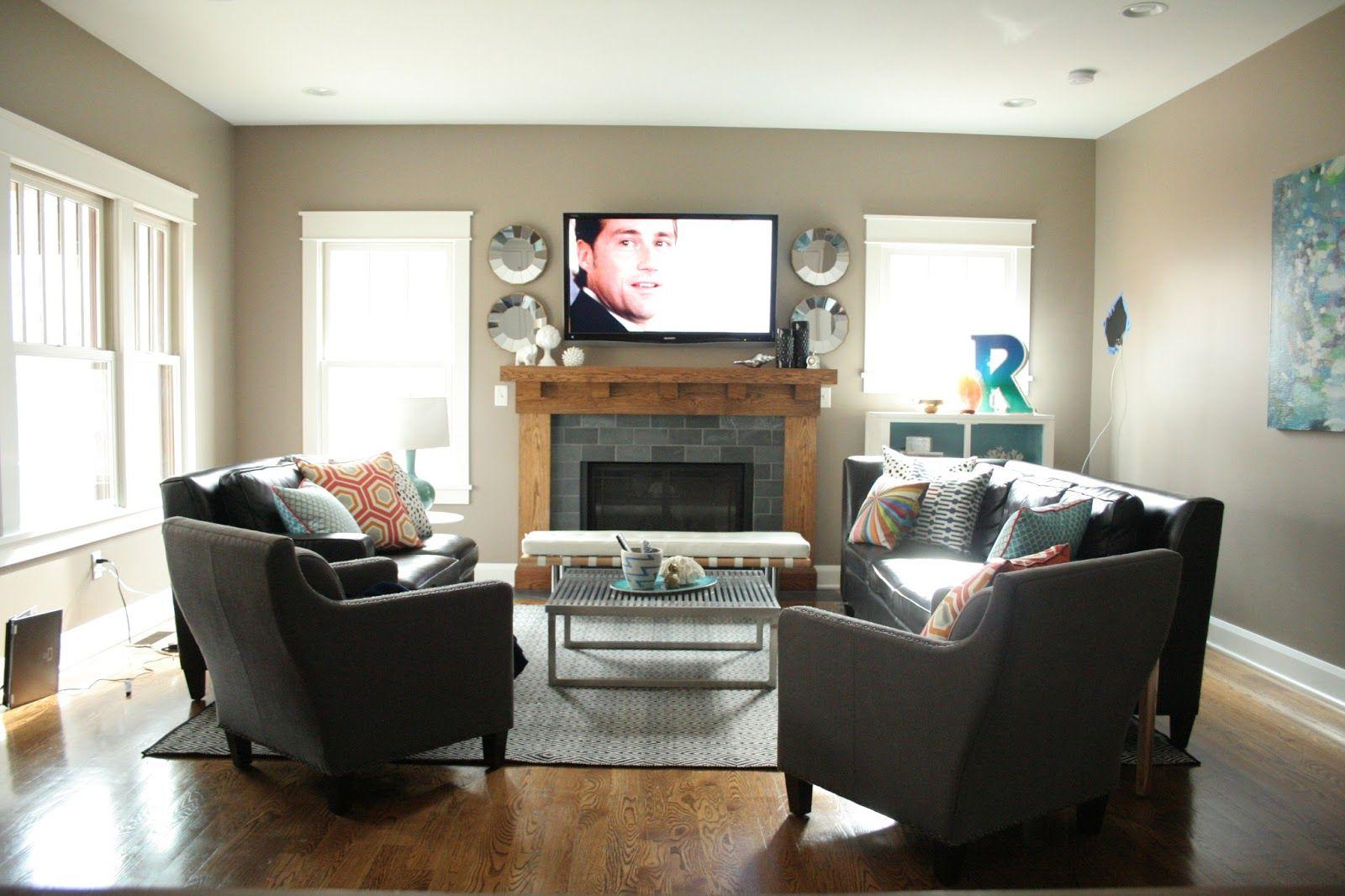 Living Room Arrangements With Corner Tv