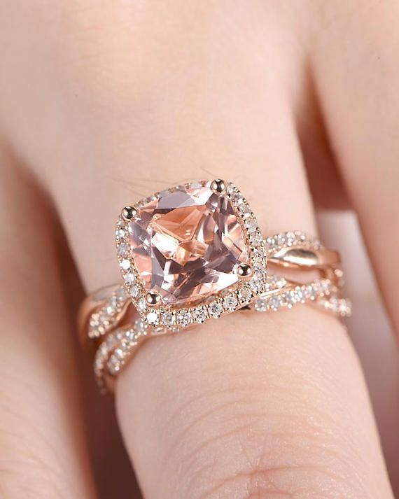 Art Deco Pink Solid 14K White Gold Vintage Classic Solitaire Accent Dazzling Wedding Engagement Ring Bridal 1.25 Carat Round Diamond cz