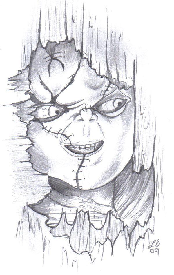 Chucky Tattoo Drawing : chucky, tattoo, drawing, Chucky, LBalch86, DeviantArt, Scary, Drawings,, Halloween, Drawings
