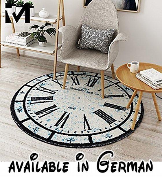 Wunderbar Ethnische Stil Figur Teppich Wohnzimmer Footcloth Studie Zimmer Stuhl  Bodenmatte Runde Teppiche Vintage ( Farbe :