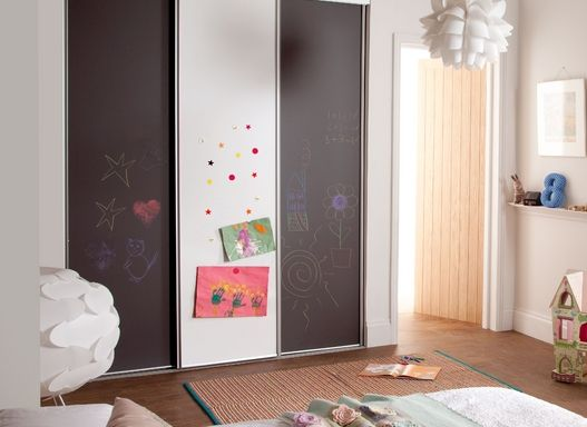 Kids Whiteboard Blackboard Spacepro Sliding Wardrobes Riyu