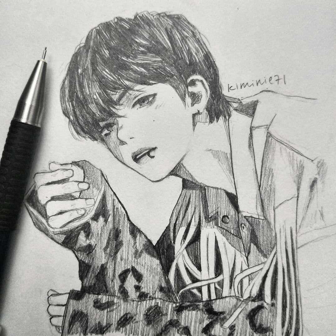 Drawing taehyung too much . . . . . . . bangtan bts