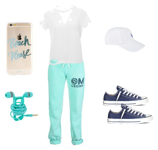 """""""Untitled #418"""" by chernjay on Polyvore featuring Anine Bing, Converse and Polo Ralph Lauren"""