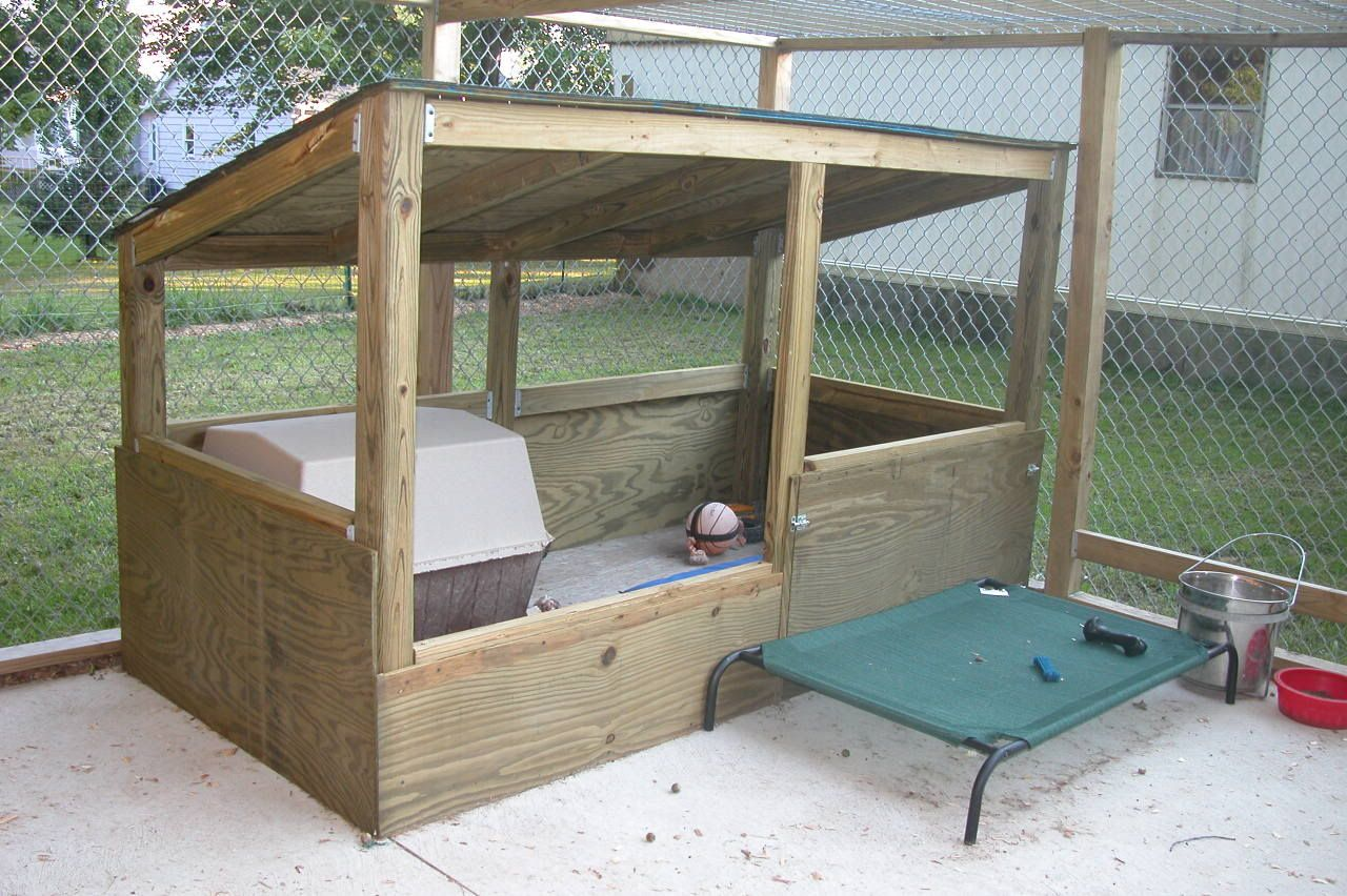 Back yard dog kennel ideas for Indoor outdoor dog kennel design