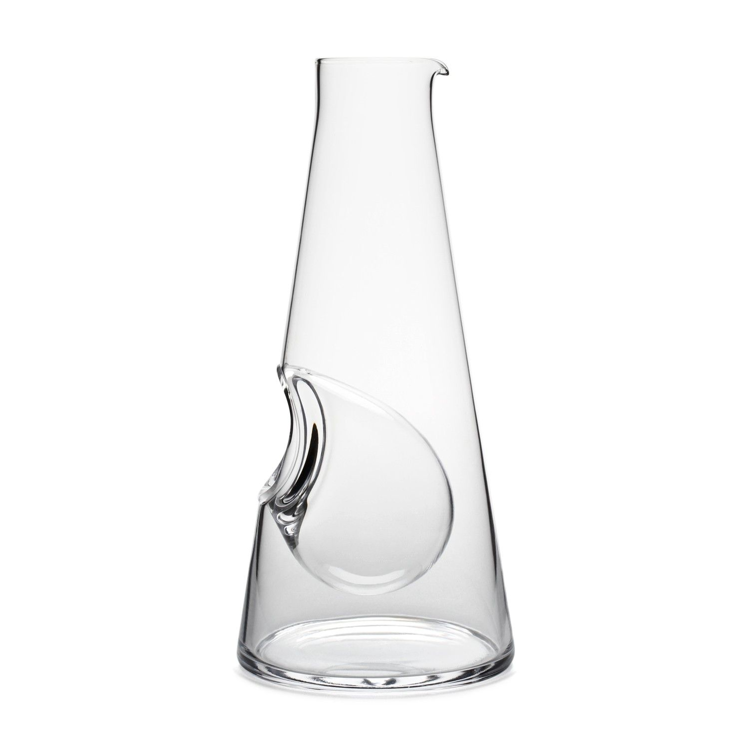 TALL GLASS CARAFE WITH  ICE POCKET