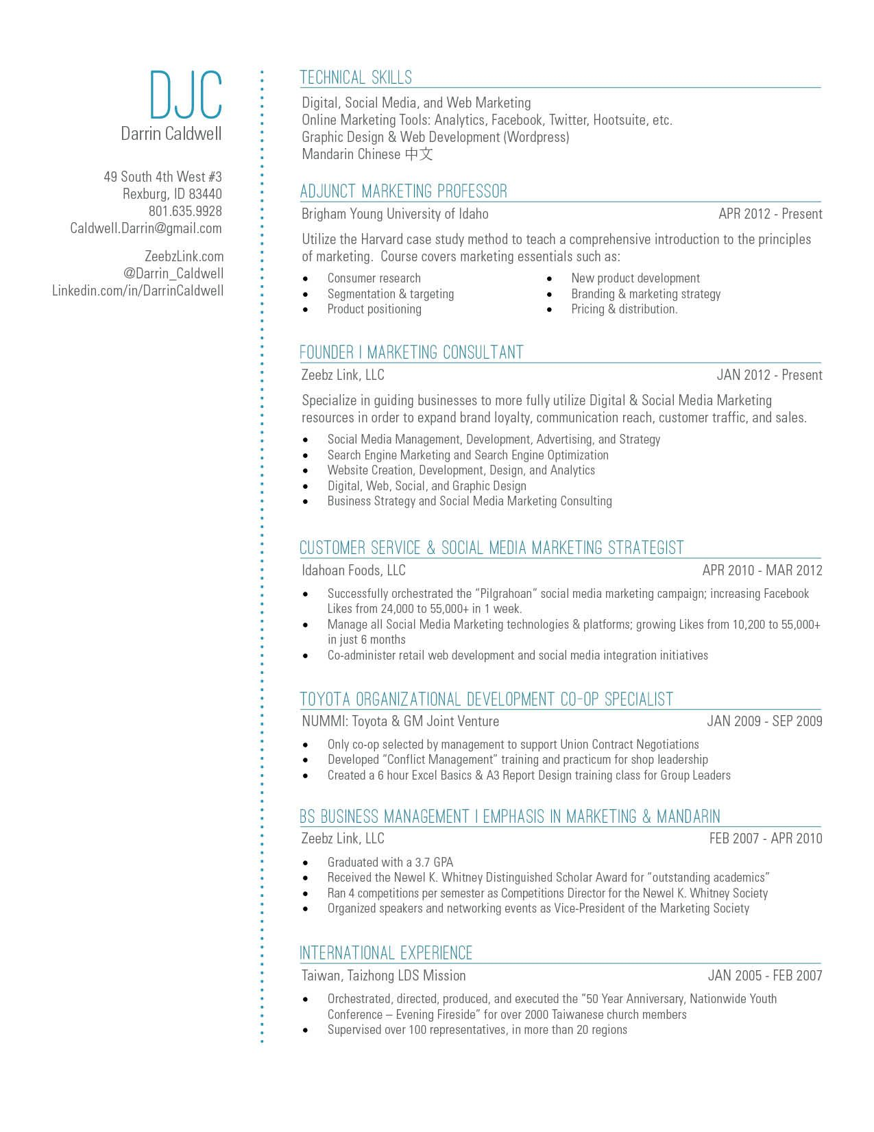 My New Resume Design With A Touch Of Blue Resumedesign