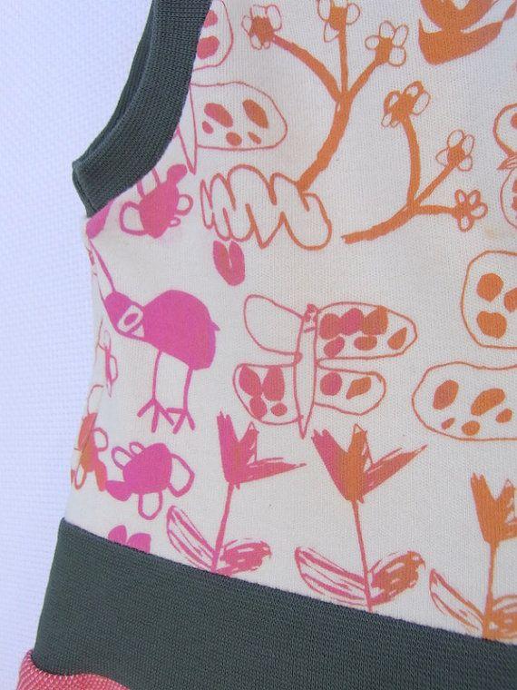 Biobaumwolle Mädchen Kleid Sweatshirt  Grösse  12 von KleineKlara