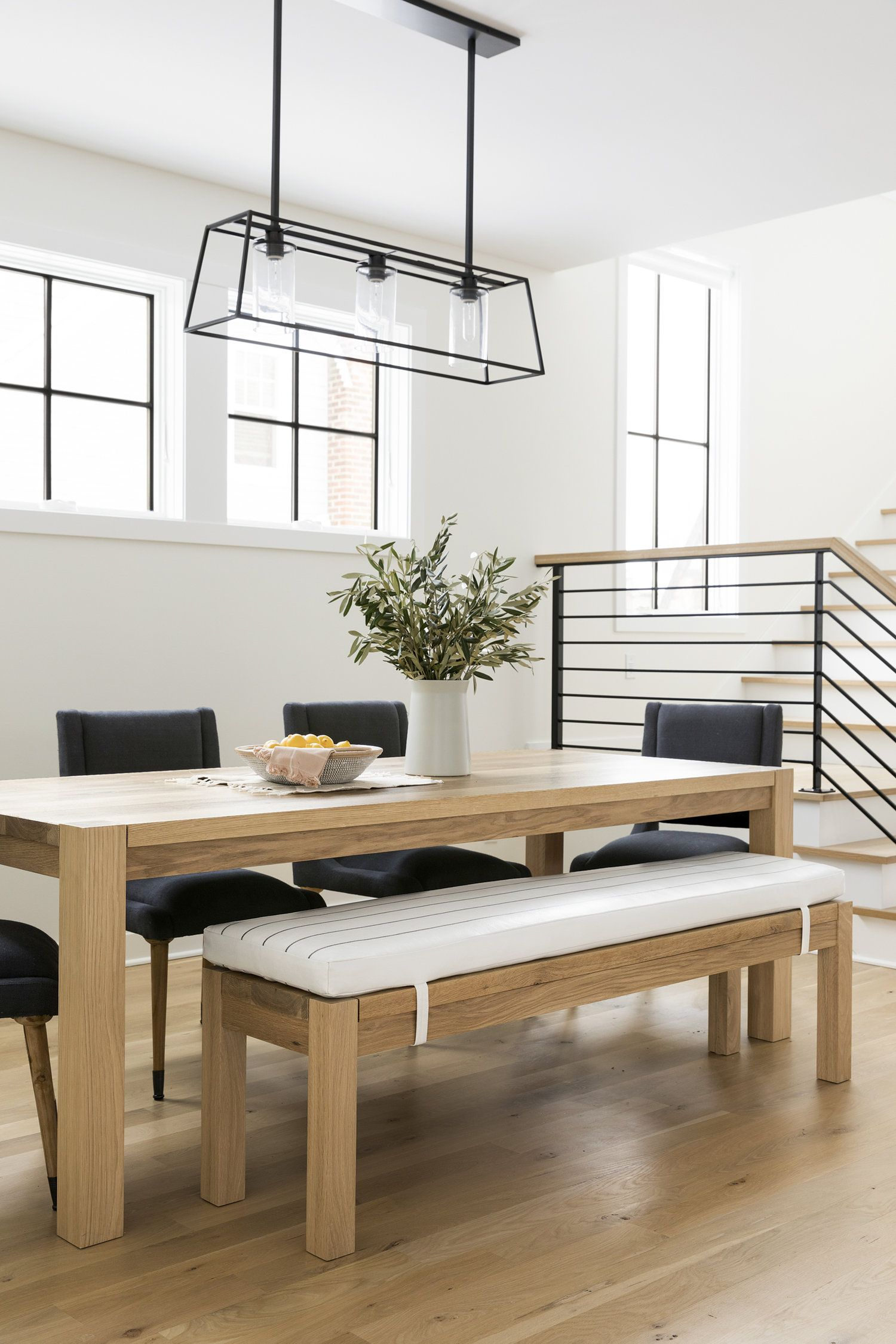 Parsons Dining Table White Oak In 2020 Wood Dining Room Table