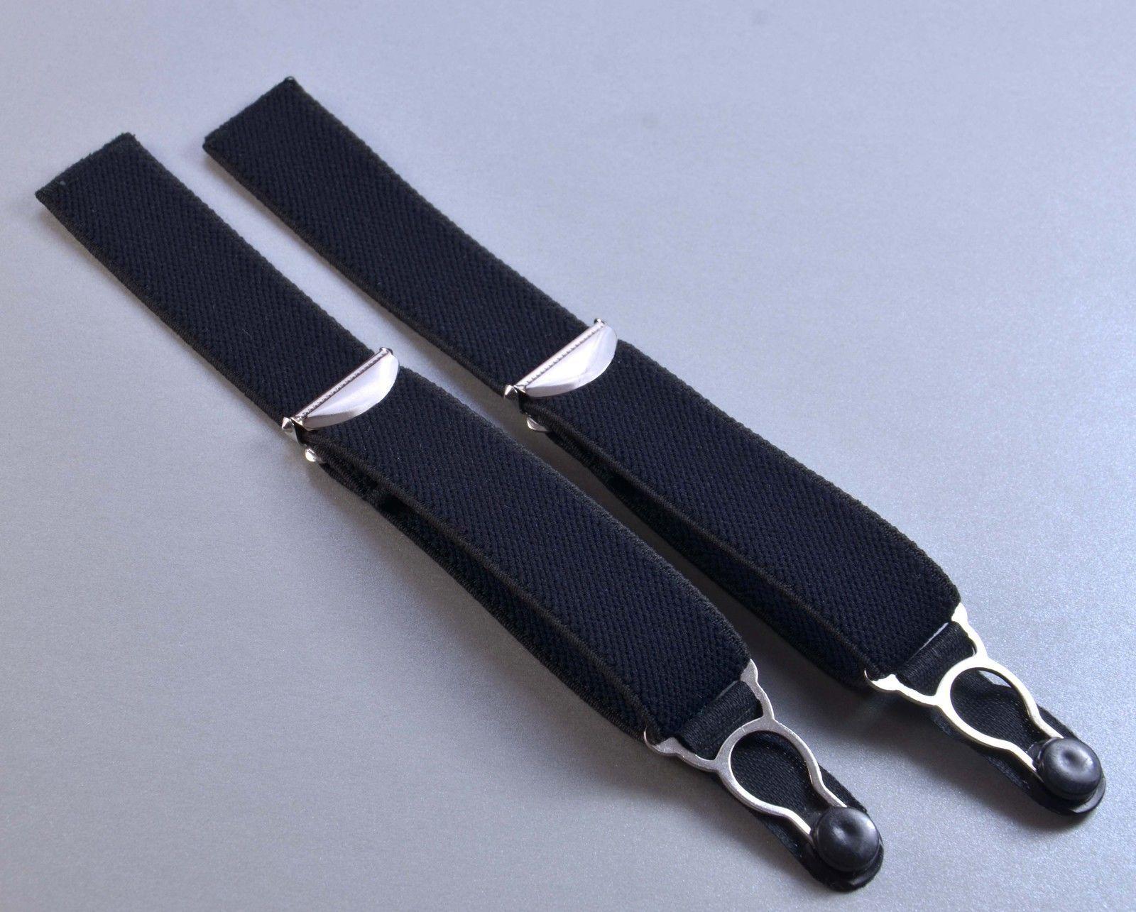 Strapsbänder mit Strumpfhalterclip zum Annähen in schwarz