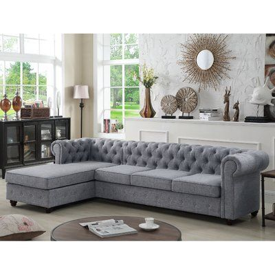 Greyleigh Quitaque Left Hand Facing Sectional Living Room Sofa