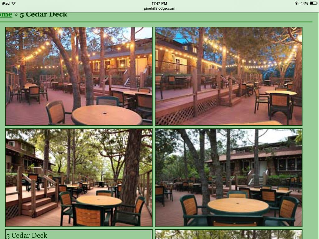 Pine Hills Lodge Julian Ca Cedar Deck Wedding Venue