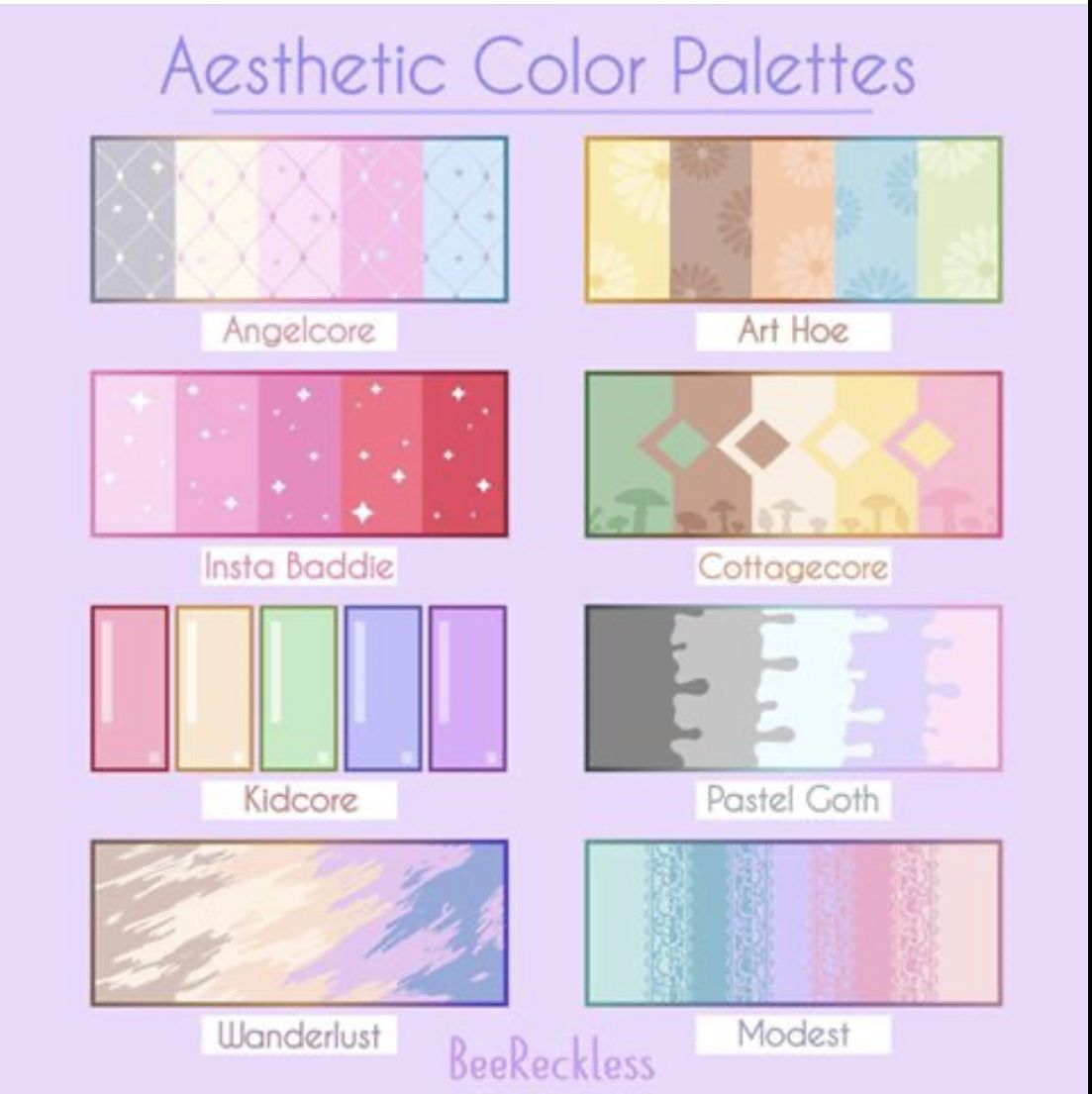Beereckless Aesthetic Color Palettes In 2020 Color Palette Challenge Aesthetic Colors Palette Art