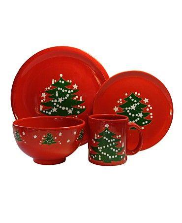 christmas dishes - German Waechtersbach Dinnerware, Christmas Tree  Collection - Christmas Dishes - German Waechtersbach Dinnerware, Christmas Tree