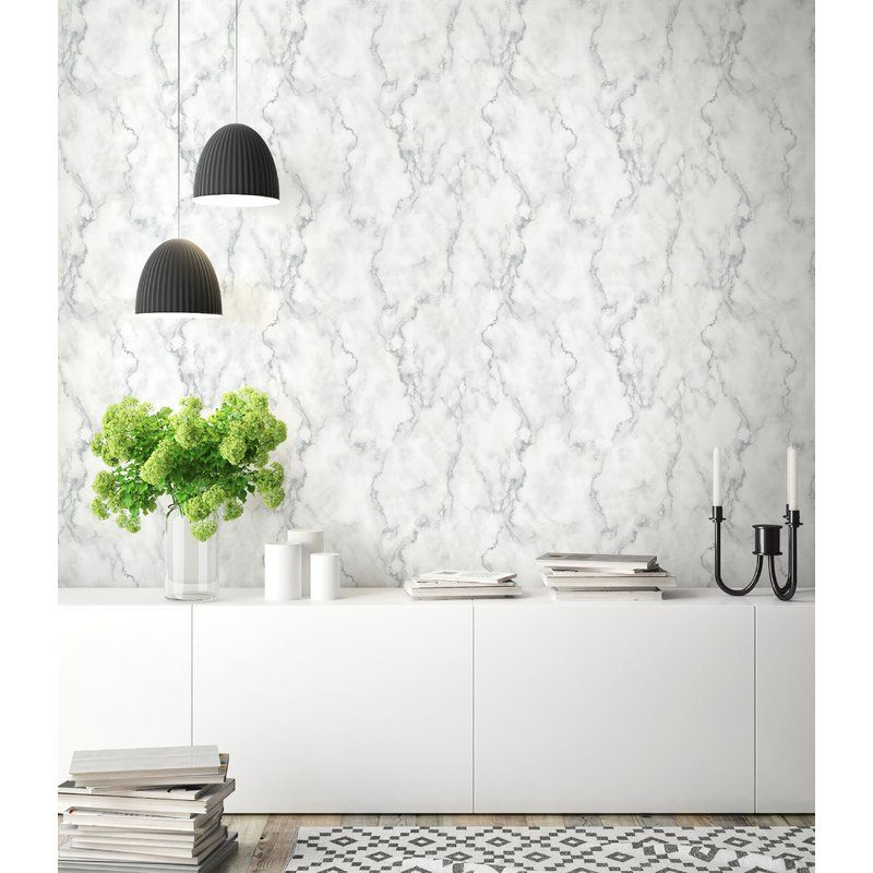 Metson Faux Marble 216 L X 20 5 W Peel And Stick Wallpaper Roll Peel And Stick Wallpaper Decor Removable Wallpaper
