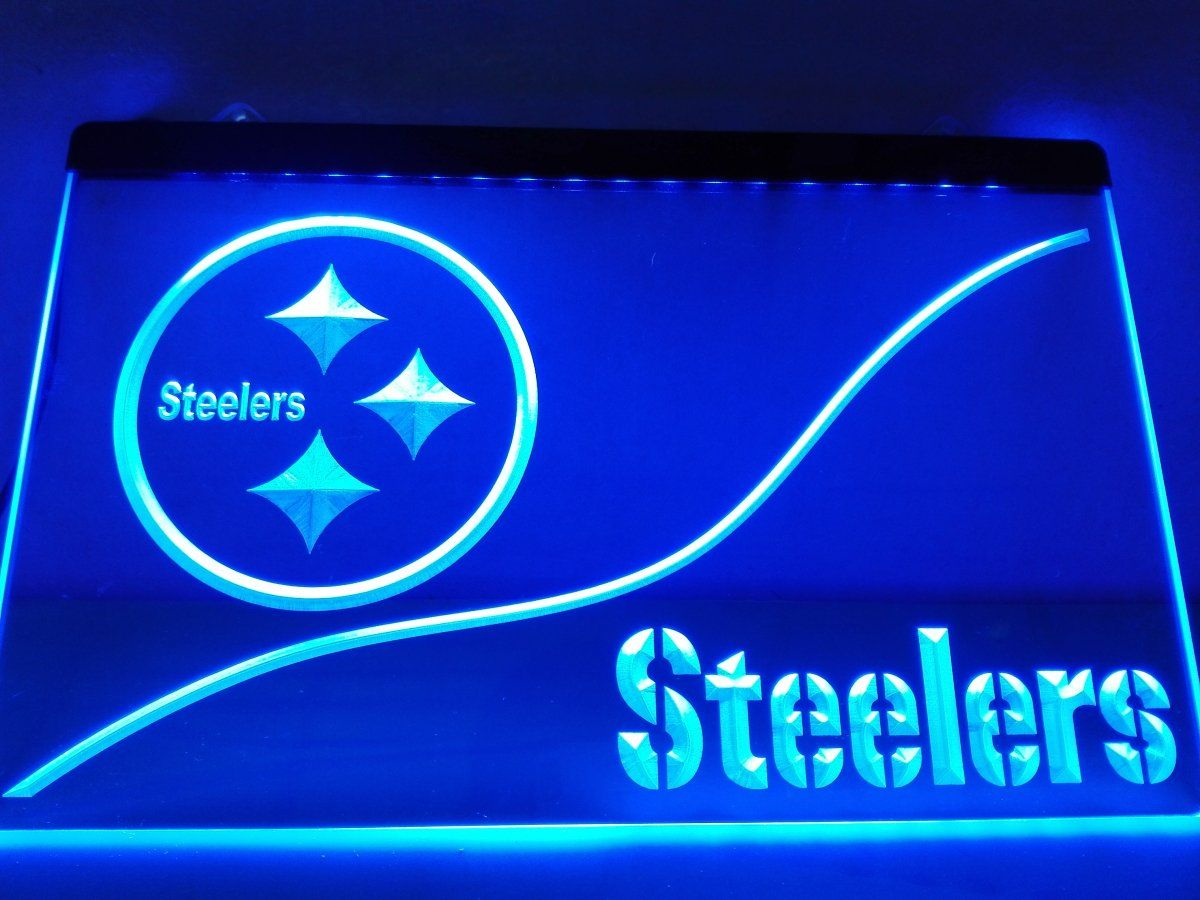 Led Sign Home Decor Extraordinary Ld515 Pittsburgh Steelers Led Neon Light Sign Home Decor Crafts Review