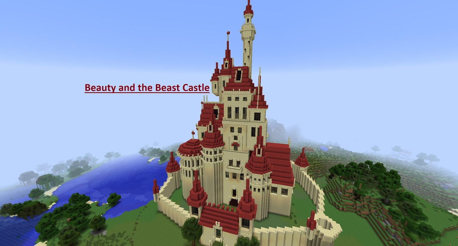 The Beast S Castle Minecraft Beauty And The Beast Castle Youtube Beast S Castle Beauty And The Beast Beast