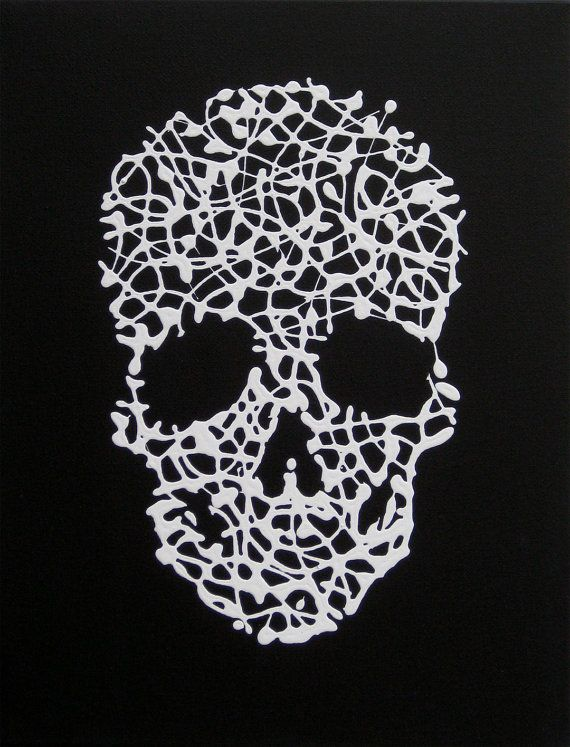 Matrix sCULL  Original Painting on Stretched by theartofthematrix, $34.00