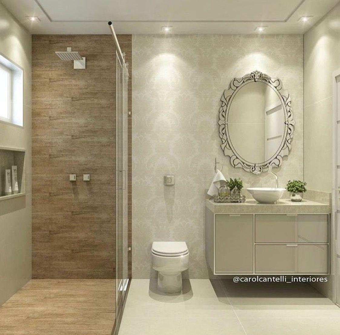 Box Com Porcelanato Que Imita Madeira Banheiro Amadeirado