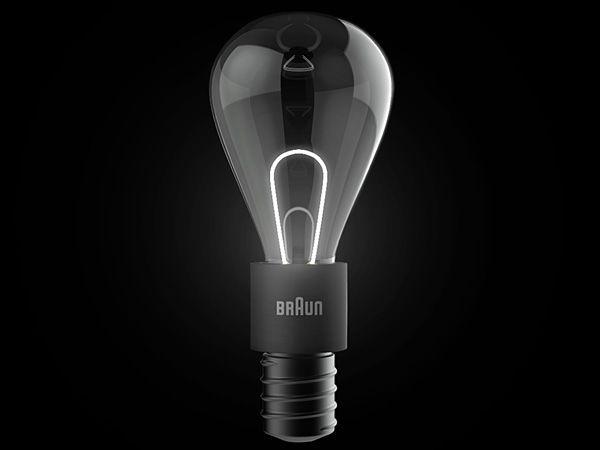"Lovely ""incandescent"" light bulb utilising LEDs and optical fiber."